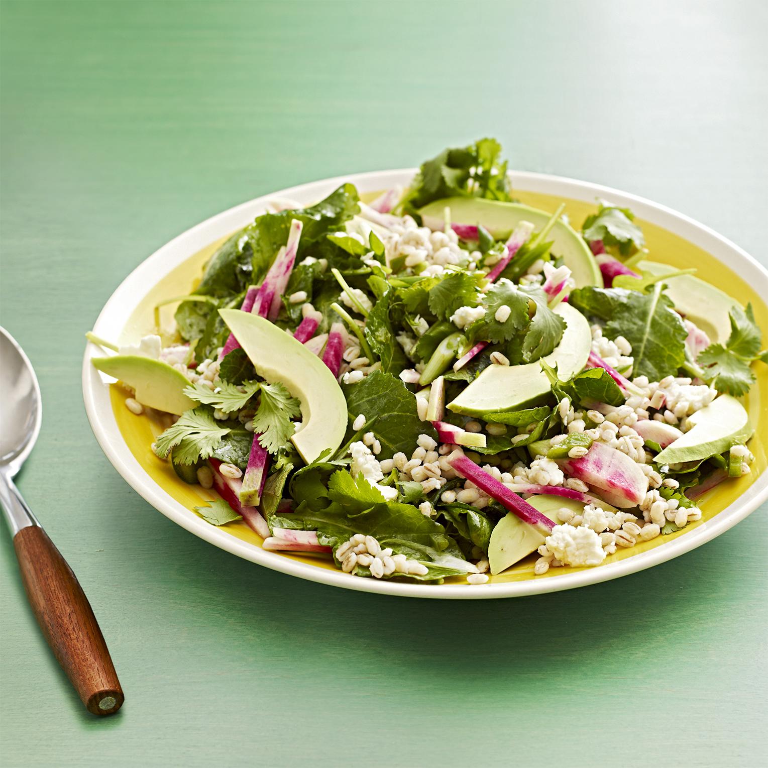 kale and barley salad