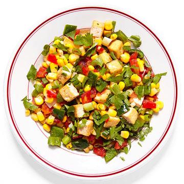 Southwestern Tofu Hash