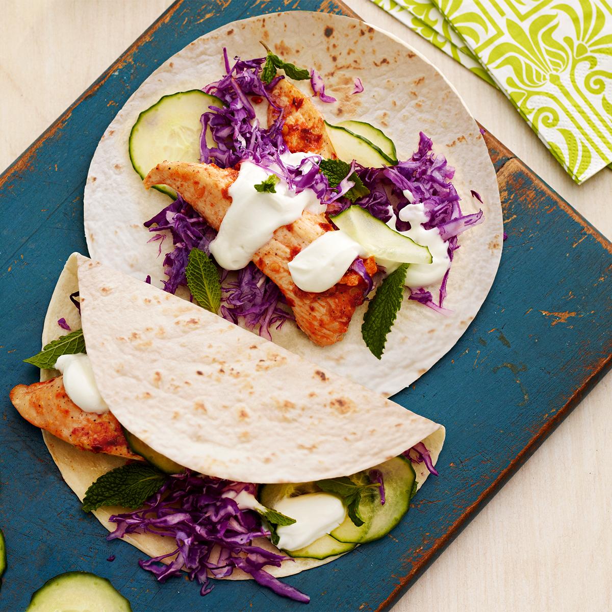 Spicy Chicken Soft Tacos
