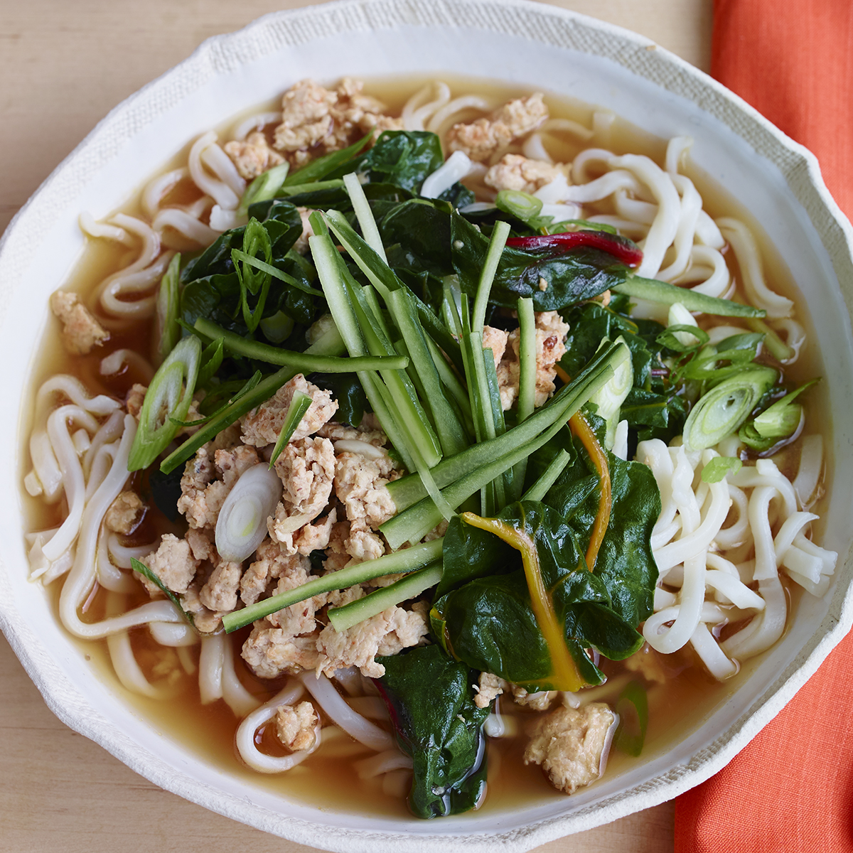 tingly chicken greens noodle bowls