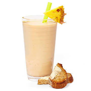 Tropical Smoothie with Toast