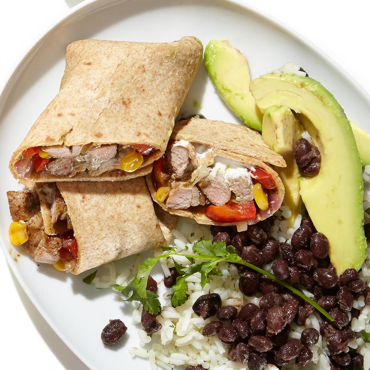 Zesty Pork Burrito