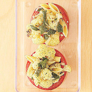 Baked Cauliflower-Stuffed Tomato