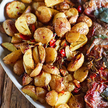 Roasted Potatoes & Peppers