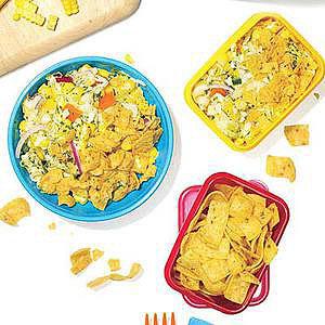 Cheesy-Spicy Corn and Corn Chip Salad