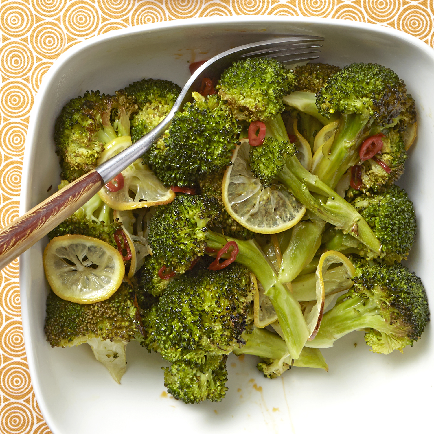 hot and sour roasted broccoli