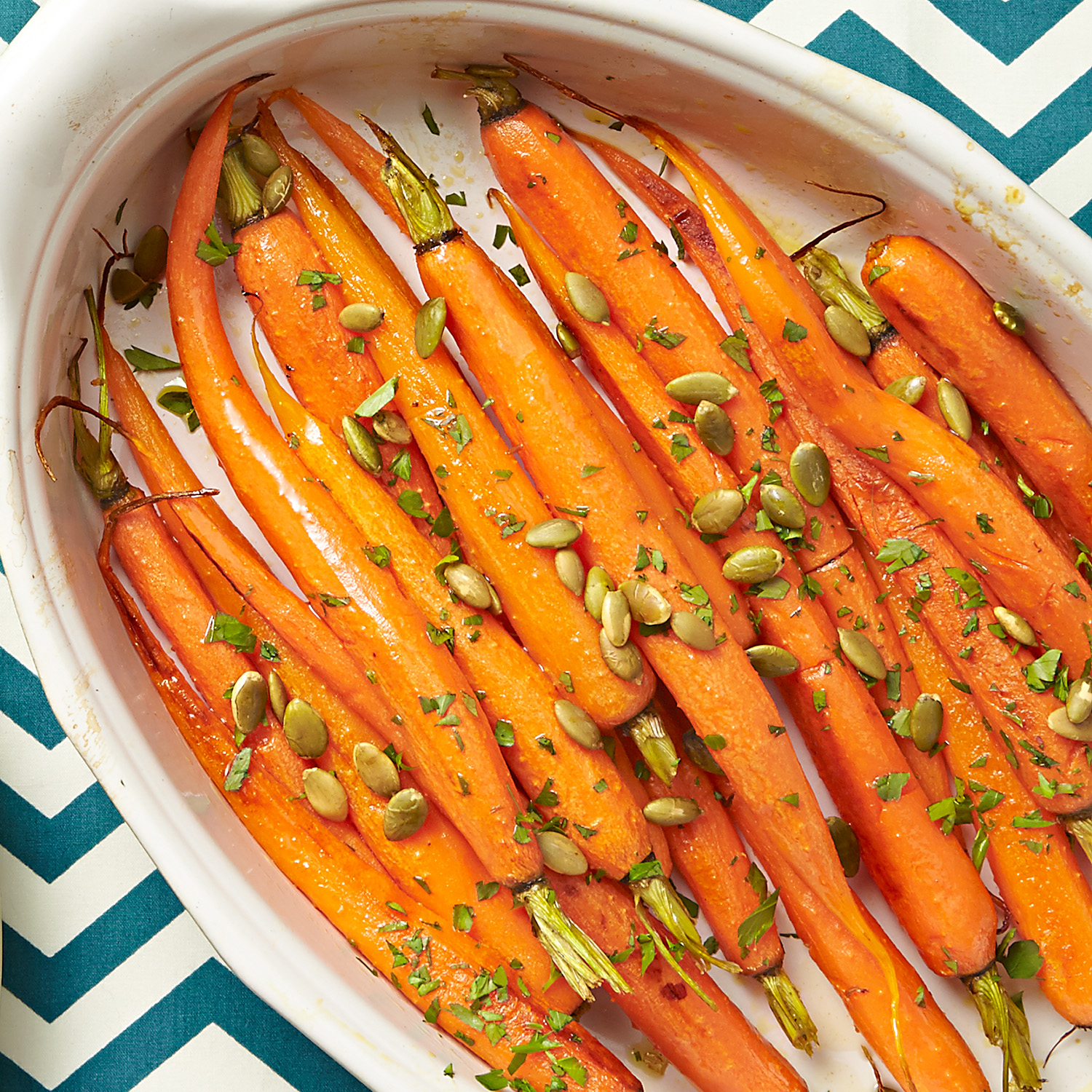 Roasted Carrots with Pepitas