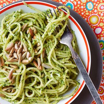 Zucchini Pesto with Linguini