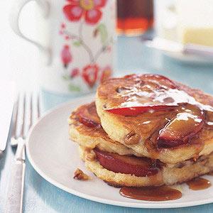 Plum and Pecan Pancakes