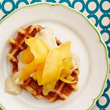 Choco-Mango Waffles