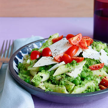 Penne with Peas & Mint