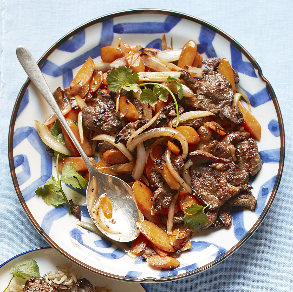 spicy lamb and carrot stir-fry