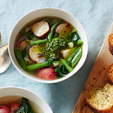 Very Veggie Soup with Parmesan Toasts