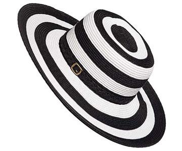 Striped Floppy Sun Hat