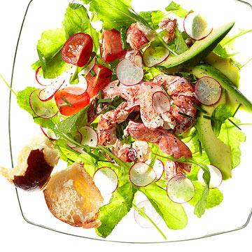 Creamy Lobster Salad with Arugula