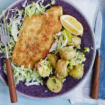 Gluten-Free Fish Fry with Potato Salad