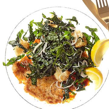 Kale & Chicken Scaloppine Caesar