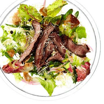 Steak & Chicory Salad with Fresh Horseradish