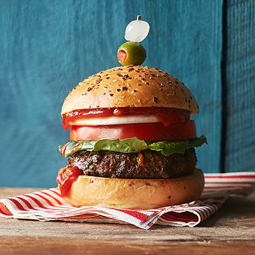 Bloody Bull Burgers with Crunchy Ketchup