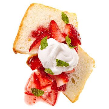 Double Berry Angel Cake