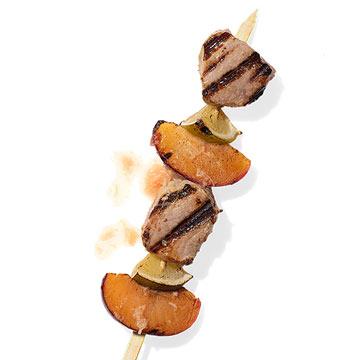 Pork & Plums with Ginger-Lime Glaze Kebab