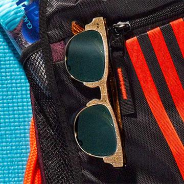 Lobamba Glitter Burlap Sunglasses