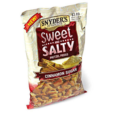 Snyder's of Hanover Cinnamon Sugar Sweet and Salty Pretzel Pieces