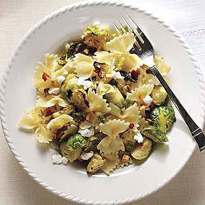 Bowties, Brussels Sprouts and Candied Almonds