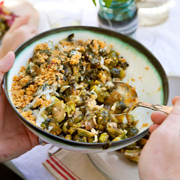 Brussels Sprouts with Breadcrumbs & Pecorino-Romano