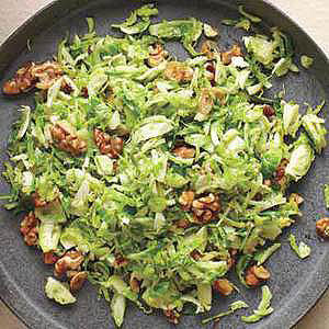 Shredded Brussels Sprouts with Walnuts