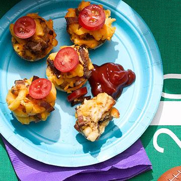 Bacon Mac & Cheeseburger Bites