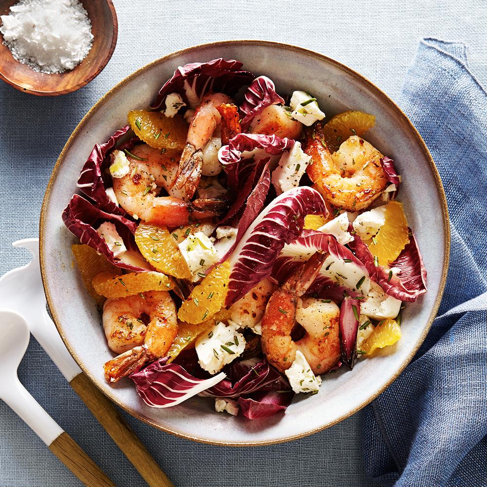 shrimp radicchio salad