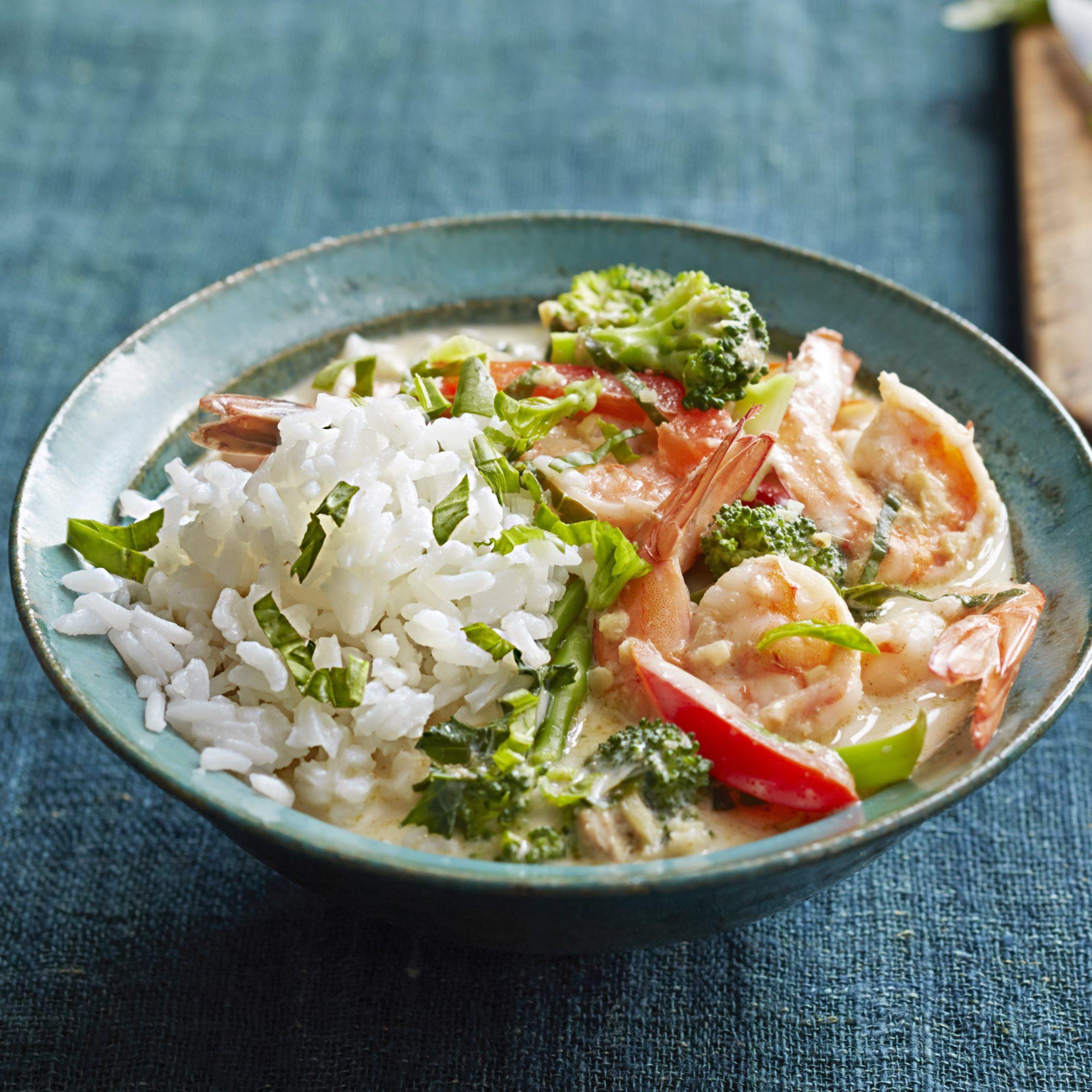 Thai Shrimp and Basil Curry