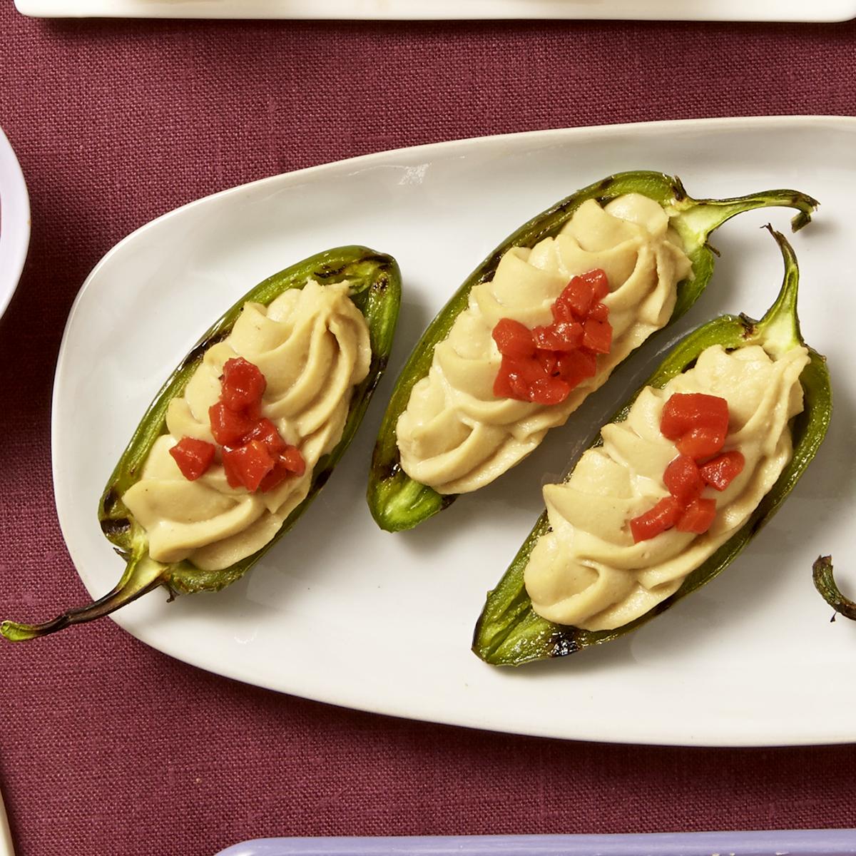 Hummus Jalapeno Poppers