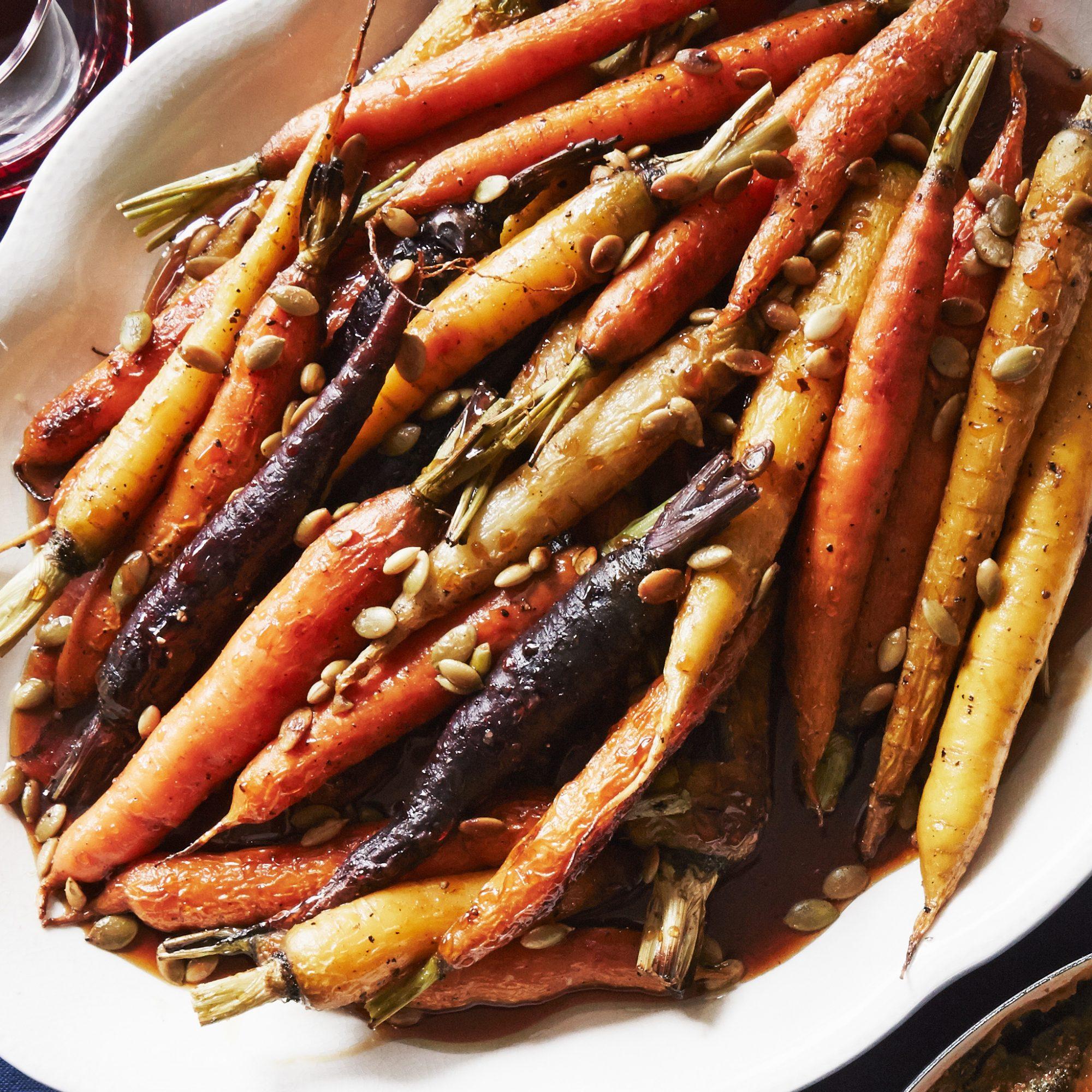 Roasted Carrots wtih Pomegranate Molasses