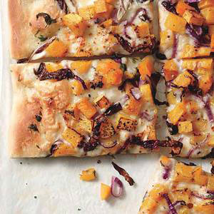 Butternut Squash-and-Red Onion Pizza