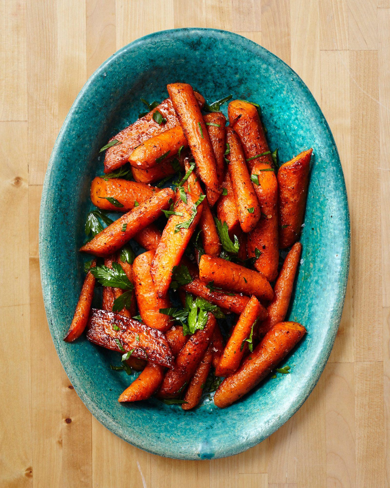 Roasted Carrots with Cumin Cinnamon