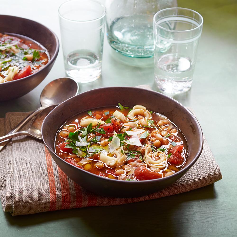 Italian Bean and Tortellini Soup