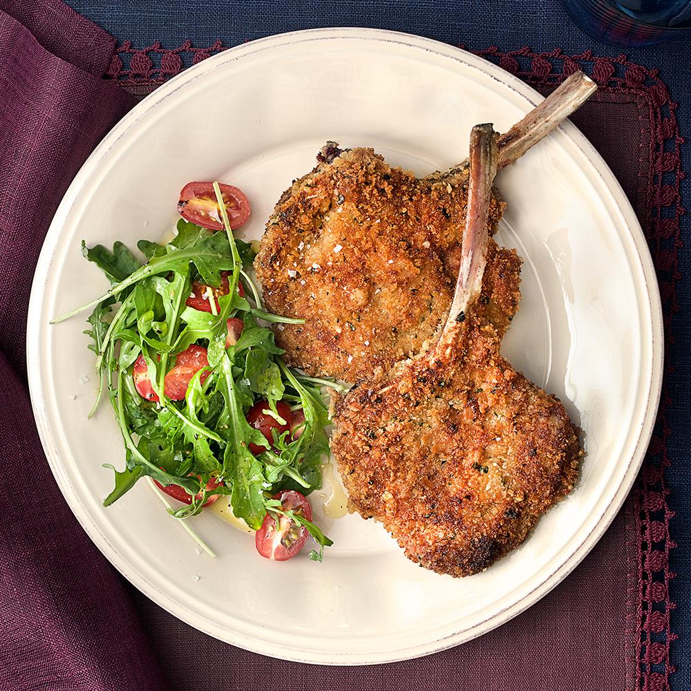 Lamb Chops Milanese