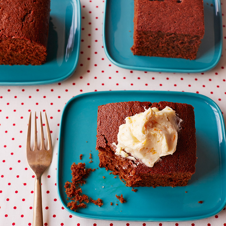 Spice Cake with Spiced Orange Frosting