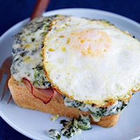 Creamed Spinach Croque