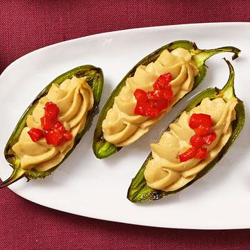 Hummus Jalapeño Poppers