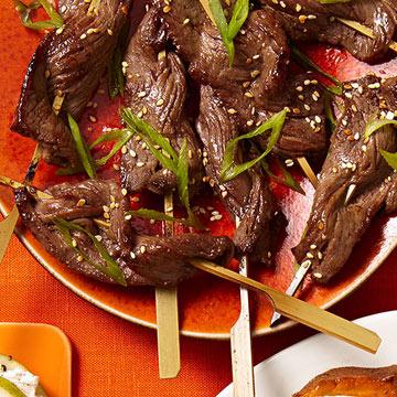 Korean Steak Lollipops