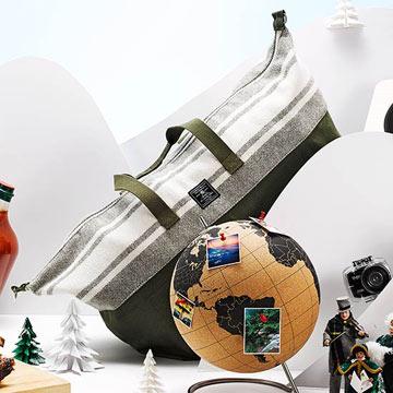 Faribault for Target Wool and Canvas Duffle Handbag