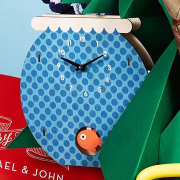Fishbowl Pendulum Wall Clock