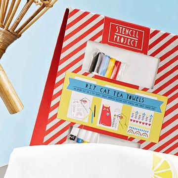 Stencil Tea Towel Kits