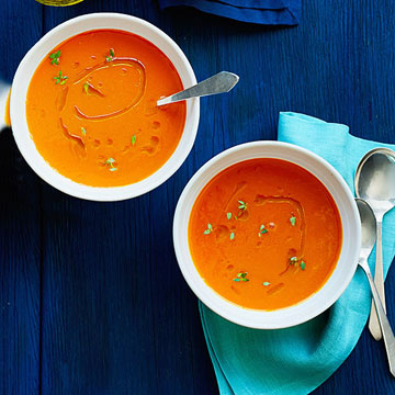 Carrot Soup with Ginger & Thyme