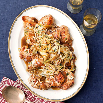 Chicken Medallions with Fennel & Pine Nuts