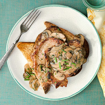 Veal Scallops with Marsala Cream Sauce