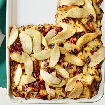 Apple-Cinnamon Swirl Strata